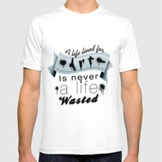 A life lived for art. SMALL Mens Fitted Tee White