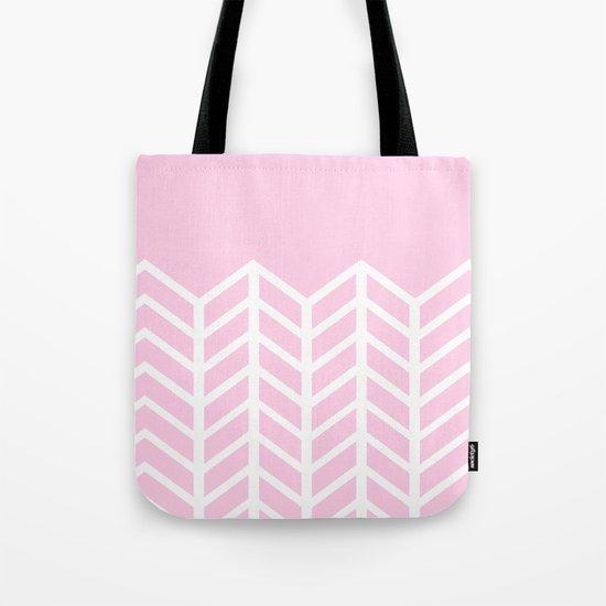 LACE CHEVRON (PINK) Tote Bag
