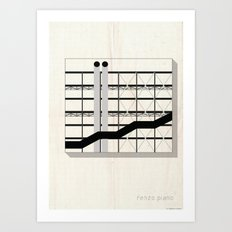Abstrarch_renzo piano Art Print