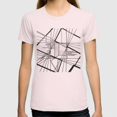Kaleidoscope  Womens Fitted Tee Light Pink SMALL