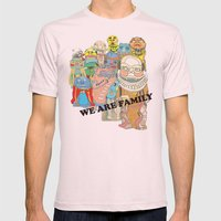 WE ARE FAMILY! Mens Fitted Tee Light Pink SMALL
