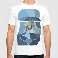 Artic Wolf Mens Fitted Tee White SMALL