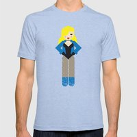 Black Canary Mens Fitted Tee Tri-Blue SMALL