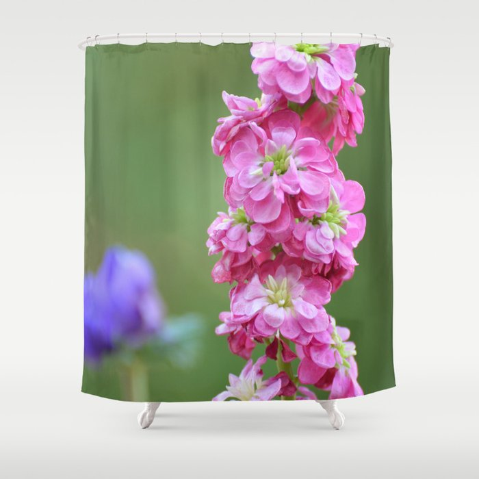 Snap Dragon Floral Pink Flower Shower Curtain by Michael P. Moriarty ...