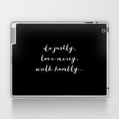 WALK HUMBLY - B & W Laptop & iPad Skin