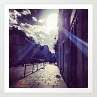 Ray Of Sunshine On The S… Art Print
