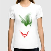 The Dark Joke Womens Fitted Tee White SMALL