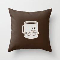 Mugged. Throw Pillow