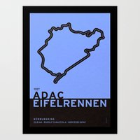 Legendary Races - 1927 Eifelrennen - Nürburgring Art Print