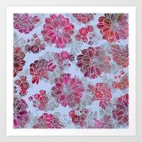 Flower Pattern Design Art Print