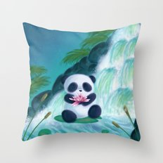 Panda Lilly Throw Pillow