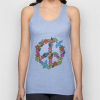 Flower Peace Sign Unisex Tank Top