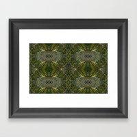Coconut Leaf Collage Framed Art Print