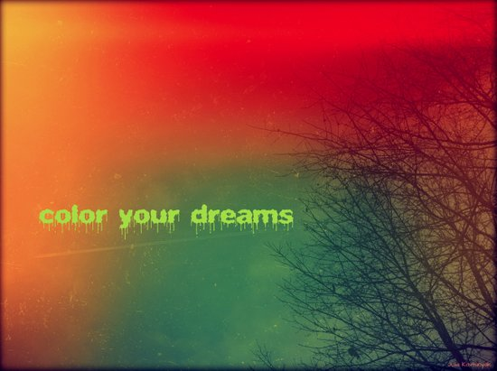 Color your dreams Art Print