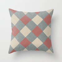 Linen Diamonds Throw Pillow