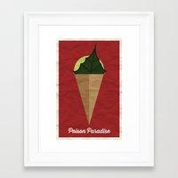 Poison Paradise Framed Art Print