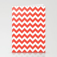 Red Chevron Stationery Cards