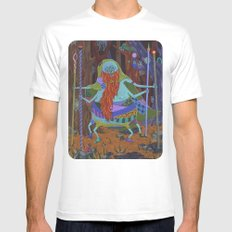 The Spider Wizard Mens Fitted Tee White SMALL