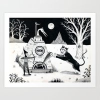 Night Attack Art Print