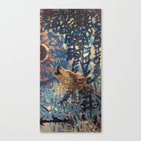 THE WOLF HOWLED AT THE S… Canvas Print