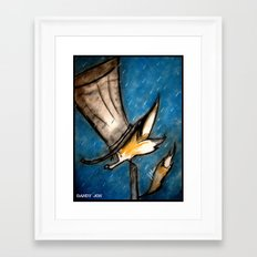 Dandy Fox: Rain Walk Framed Art Print