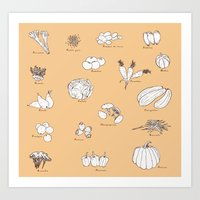 Art Print featuring Fruit And Vegetables by Les Gordon