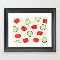 Veggies Framed Art Print