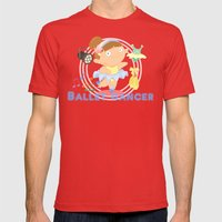 Ballet Dancer Mens Fitted Tee Red SMALL