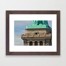 Statue of Liberty's Feet Framed Art Print