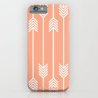 Peach And White Arrows iPhone 6 Slim Case