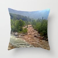 Good And Bad Things Come… Throw Pillow