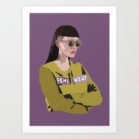 Feminist (Purple) Art Print