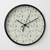 Children Playing-on Mint Wall Clock