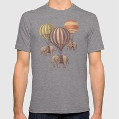 Flight Of The Elephants  Mens Fitted Tee Tri-Grey SMALL