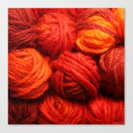 Many Balls Of Wool In Sh… Canvas Print