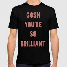 Gosh (Brilliant) Mens Fitted Tee Black SMALL