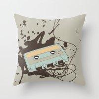 Music Blast Throw Pillow