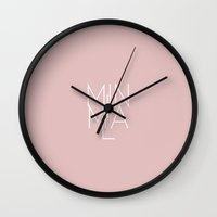 Minimal Milan /// www.pencilmeinstationery.com Wall Clock