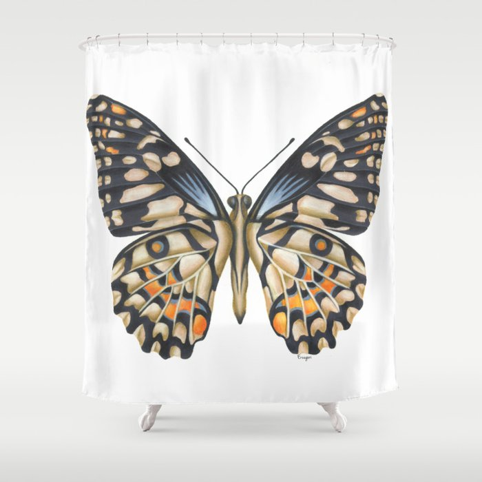 butterfly shower curtain by erzaguri society6