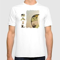 Surf Kite & Crescent Moo… Mens Fitted Tee White SMALL