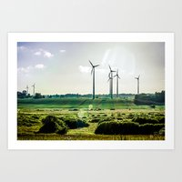 Wind generators Art Print