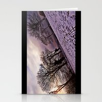 Stationery Card featuring Snow & the Evening Sky. by Becky Dix