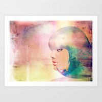 Blue Candy Art Print