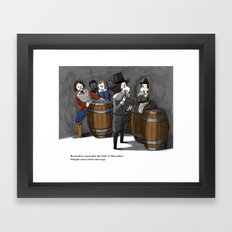Remember, remember the fluff of Movember Framed Art Print