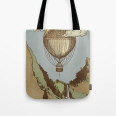 Around the world the incredible Steamballoon Tote Bag