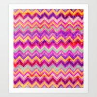Chevron Pattern Art Print