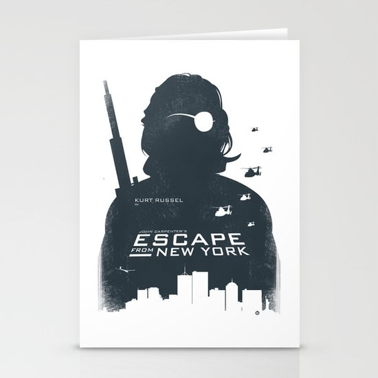 John Carpenter's Escape From New York Stationery Card