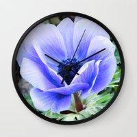 Purple Poppy Anemone I Wall Clock
