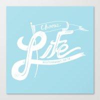 Choose Life-Blue Canvas Print