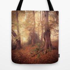 Foggy Woodland Tote Bag